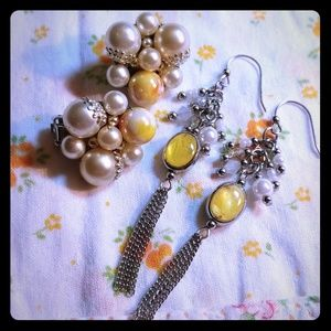 Yellow vintage to new earrings